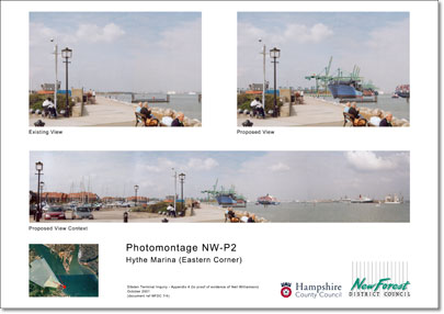 Before and after photomontage with panorama at A3
